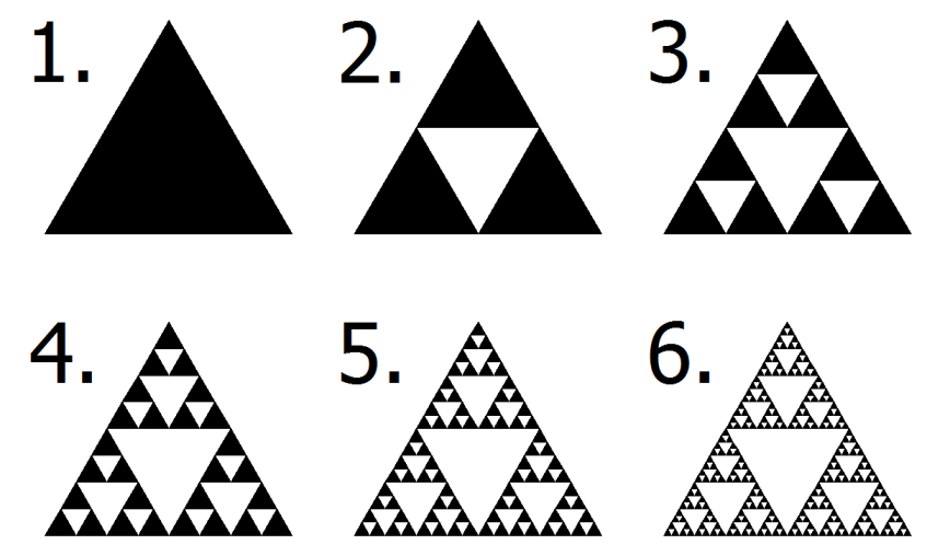 Creating the Sierpinski Triangle by subtraction.