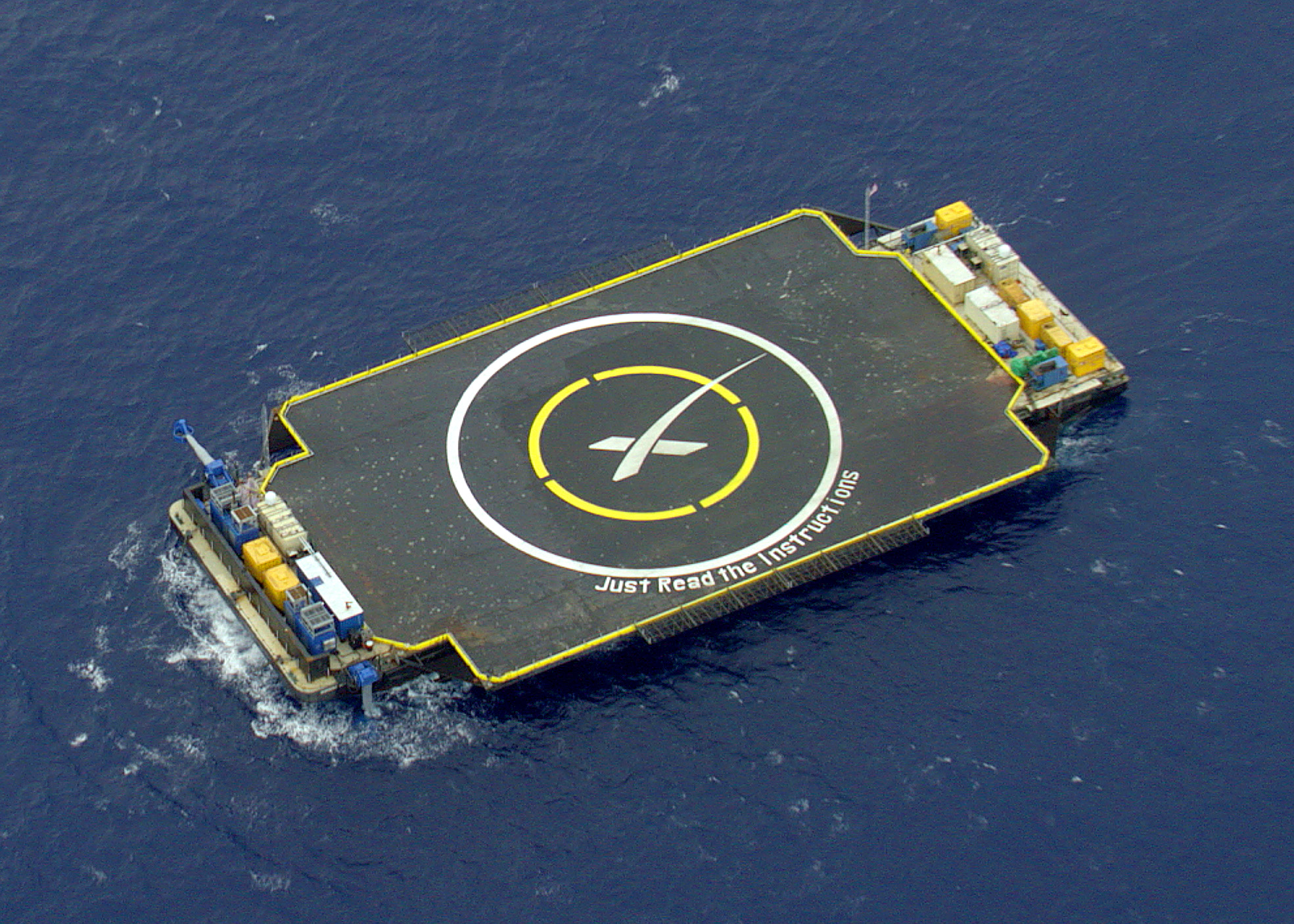 SpaceX Drone Ship - Just Read The Instructions