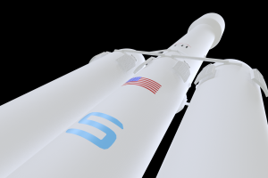 Falcon Heavy 3D model Closeup